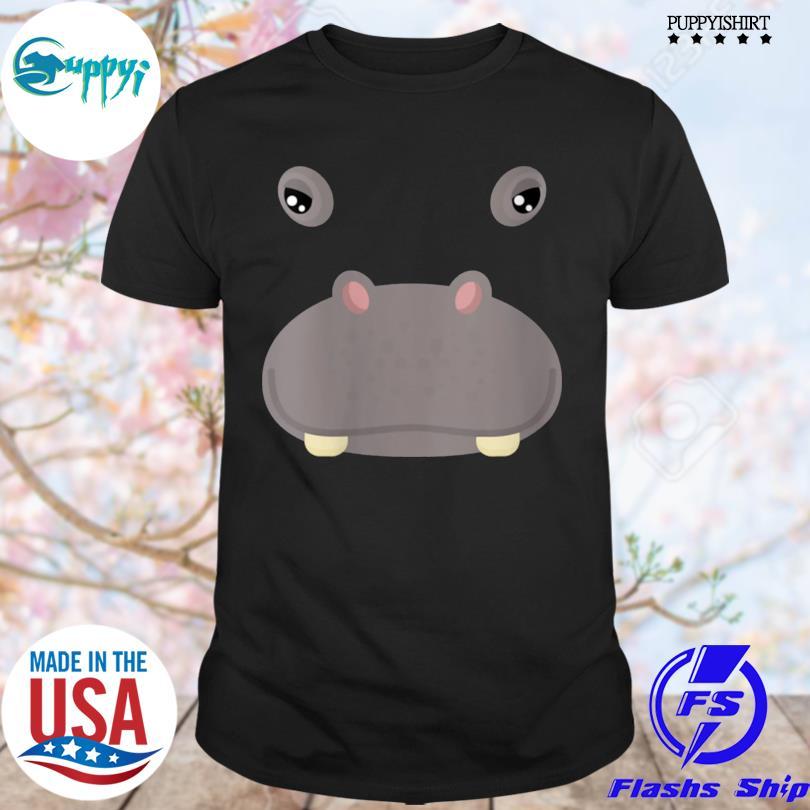 Best animal face hippo costume halloween adults shirt