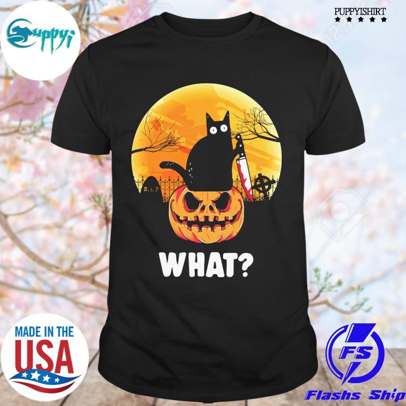 Best Black Cat And Pumkin What Halloween 2021 Shirt Masswerks Store