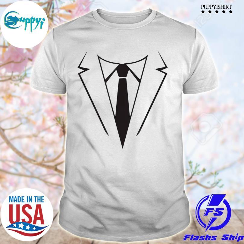 Nice tie and tuxedo costume weddings halloween shirt