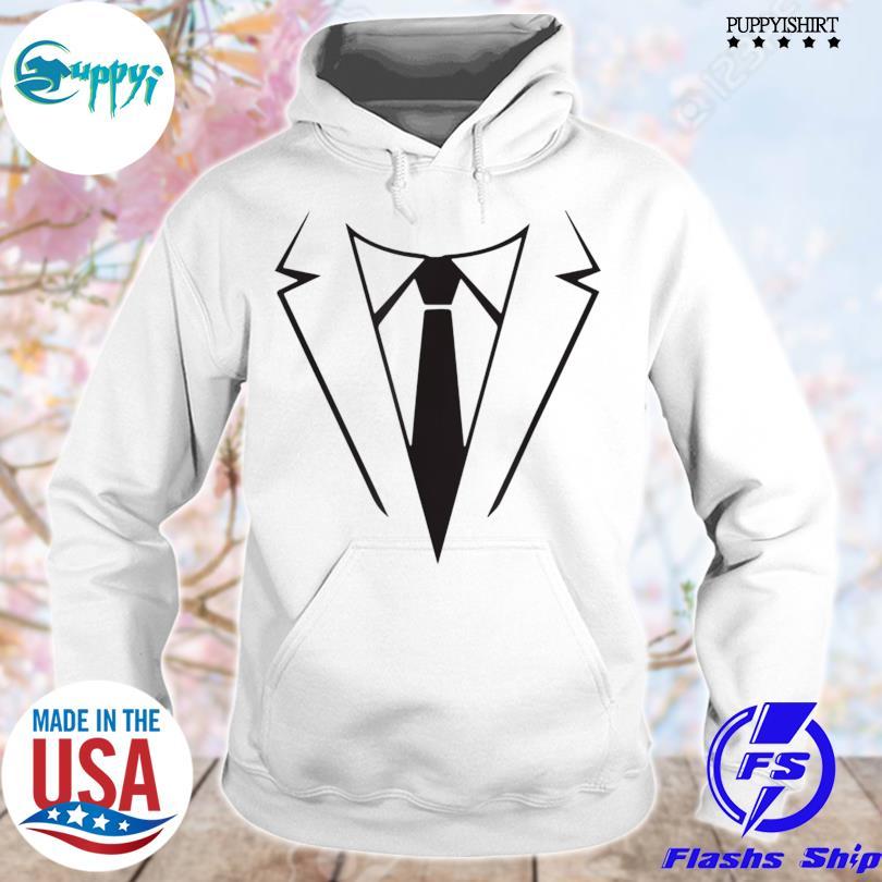 Nice tie and tuxedo costume weddings halloween s hoodie